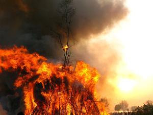 Bild Osterfeuer Rauch