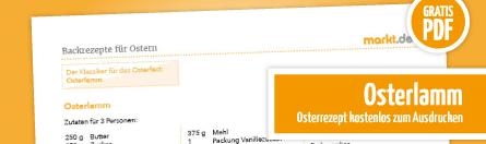 Grafik Download Rezept Osterhase aus Blätterteig