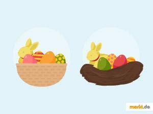 Grafik Osternest Osterkorb
