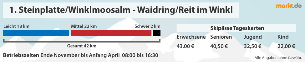 Skigebiet Steinplatte Winklmoosalm