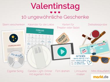 verschiedene Valentinstagsgeschenke