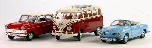 Bild Modellautos von Opel und VW
