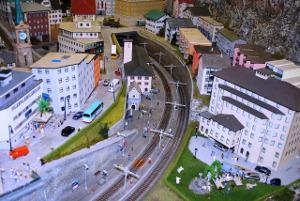 Bild Modellbau Stadt mit Autos