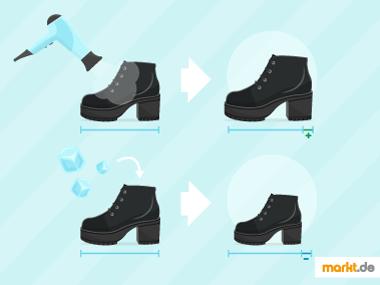 Grafik Schuhe weiten oder enger machen