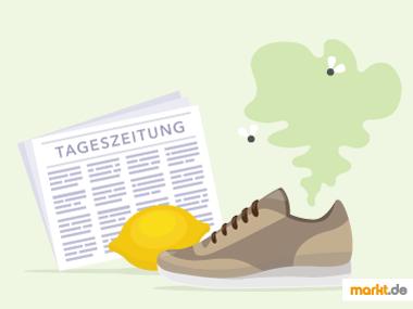 Grafik Tricks gegen stinkende Schuhe