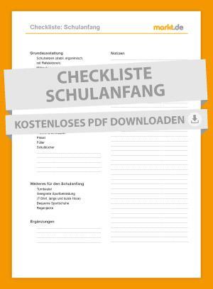 Bild Checkliste Schulstart