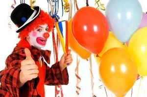 Bild Clown mit Luftballons