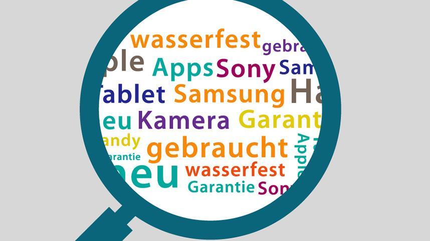 Grafik Schlagwörter Suche