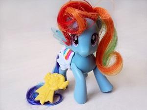 My little Pony in der Farbe blau.