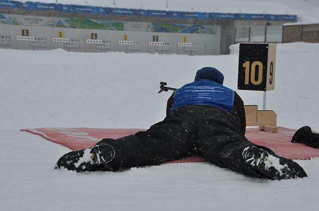 Bild professioneller Biathlonathlet