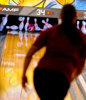 Bild Strike beim Bowling