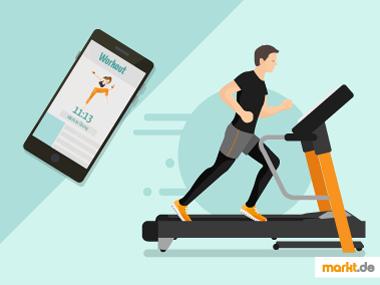 Grafik Fitnessstudio vs. Online Fitnessstudio