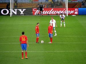 Anstoß beim Fußball