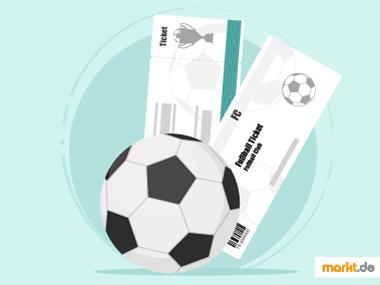 Grafik Fußball Tickets online verkaufen