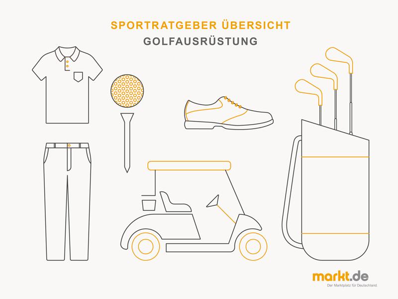 Grafik Golfspiel Ausrüstung