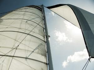 Segel eines Segelbootes