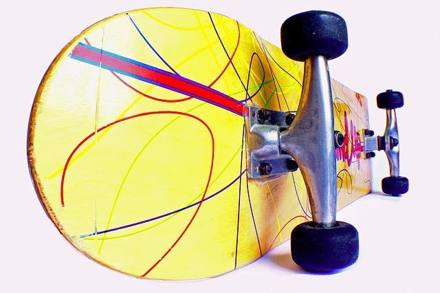 Bild Skateboard auf Flohmarkt
