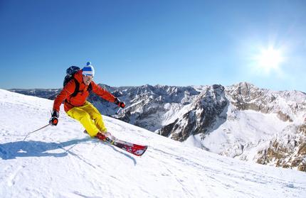 Skifahren auf Piste