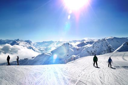Skifahren mit Blick
