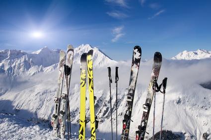 Skifahren Skier
