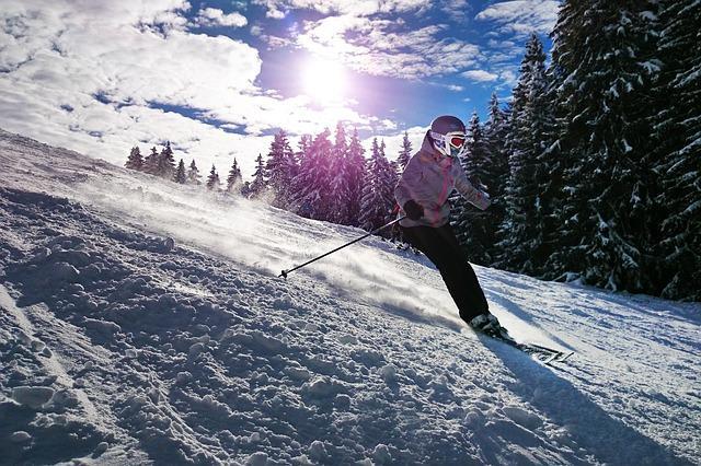 Bild Skifahrer an Hang