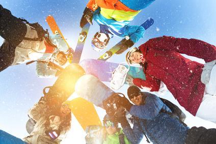 Bild Gruppe Skifahrer