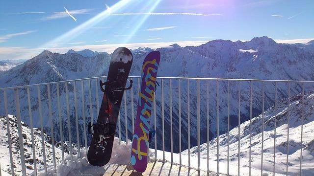 Snowboard in Sigebiet