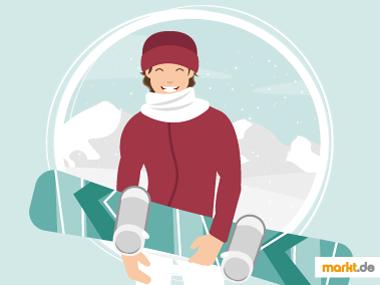 Grafik Snowboardfahren lernen