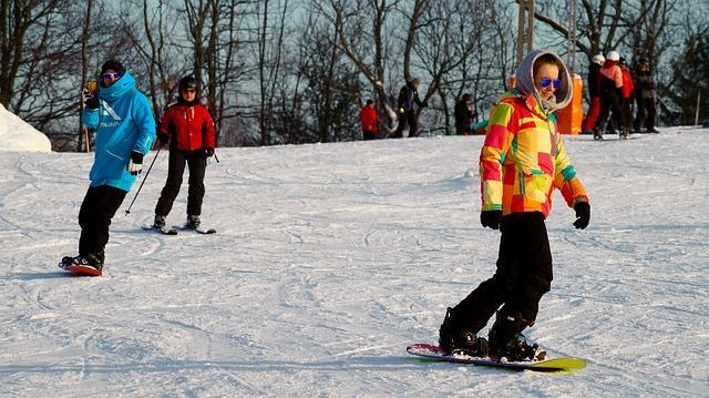 Bild Anfänger auf Snowboard