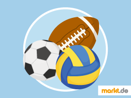 Grafik Sportarten mit Ball / Kugel