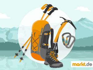 Grafik Sportübersicht Bergsteigen Ausrüstung
