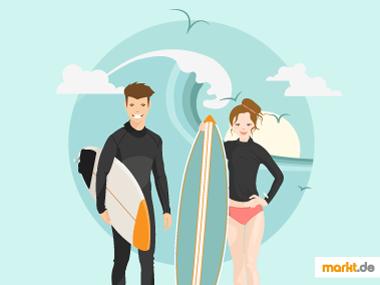 Grafik Sportübersicht Surfen