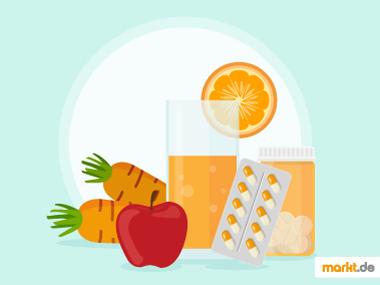 Grafik Vitaminzufuhr für Sportler