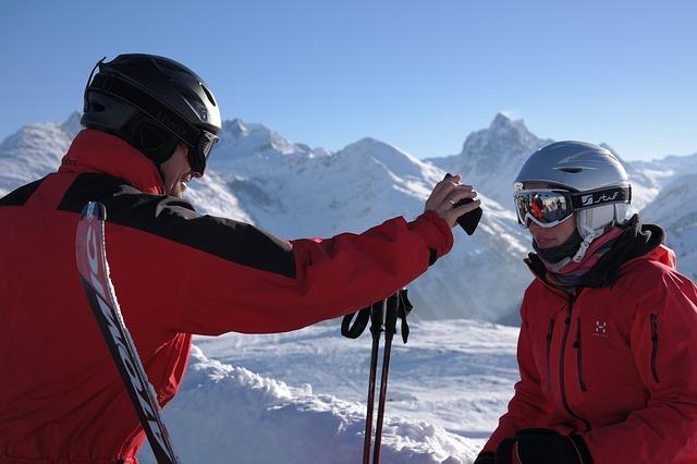 Bild Skifahrer auf Piste