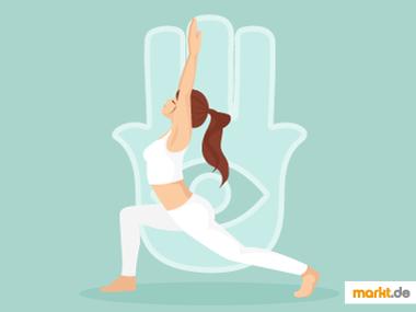Grafik Yogaübungen und weitere Techniken