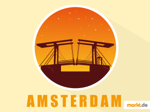 Grafik Rote Brücke Amsterdam