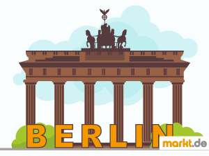 Grafik Brandenburger Tor Berlin