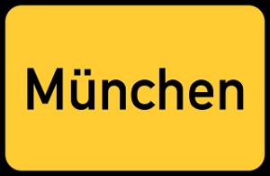 Bild gelbes Ortsschild München
