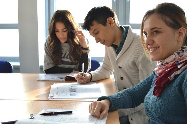 Bild Freunde beim Lernen