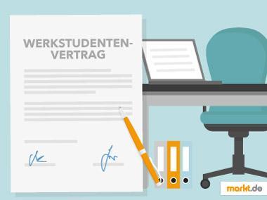Grafik Mustervertrag für Werkstudenten