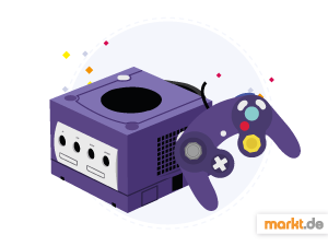 Grafik Nintendo GameCube in lila