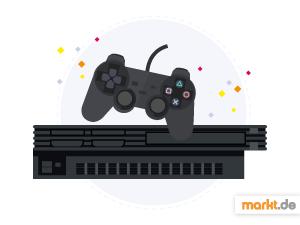 Grafik Die PlayStation 2 - Controller und Konsole
