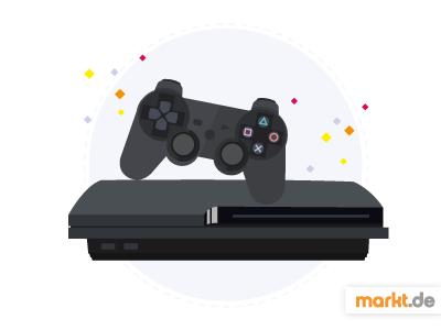 Grafik Die PlayStation 3 - Controller und Konsole