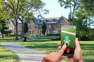 Bild Pokémon Go im Park