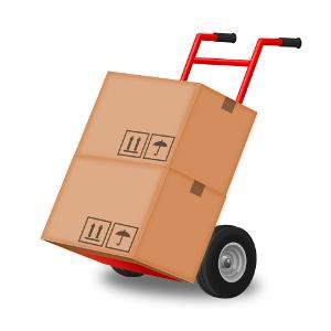 Bild Sackkarre mit Kisten