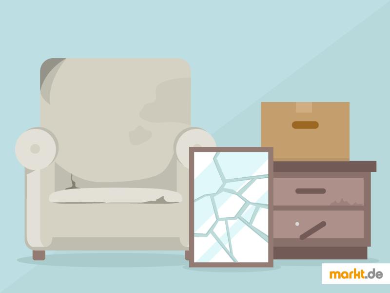 Alte Möbel Und Einrichtungsgegenstände Müssen Auch Beim Umzug Als Sperrmüll  Entsorgt Werden. (Einfach Klicken Zum Vergrößern)