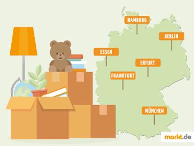Grafik Städte und Regionen in Deutschland
