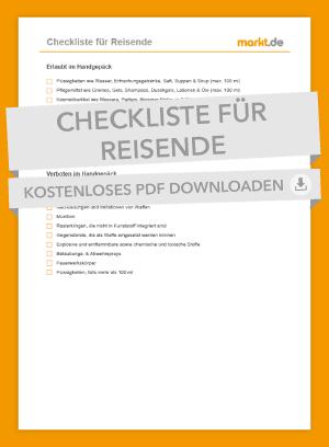 Checkliste Handgepäck