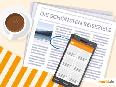 Grafik Kleinanzeigen in Zeitung und Handy
