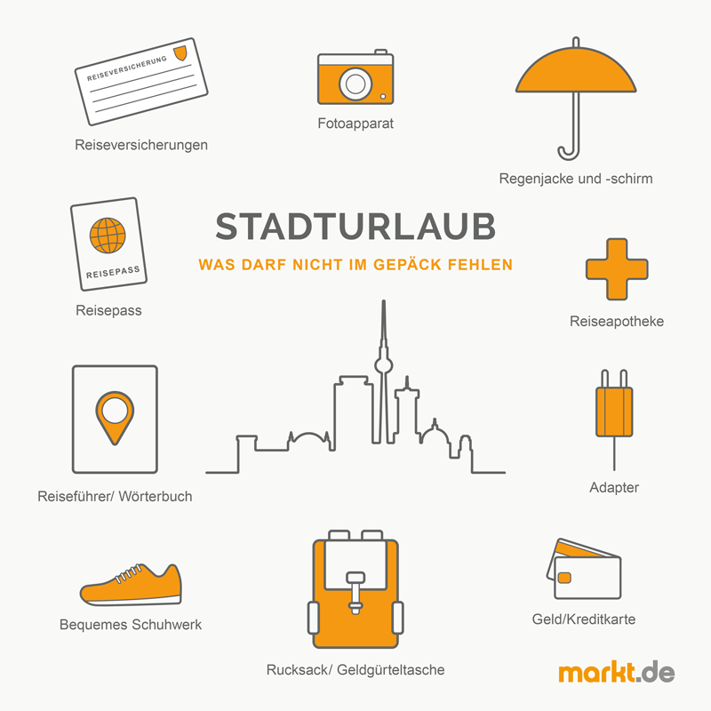 Grafik Gepäck für Stadturlaub